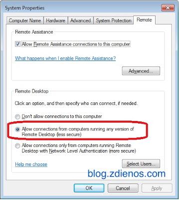 setting remote desktop enable NLA