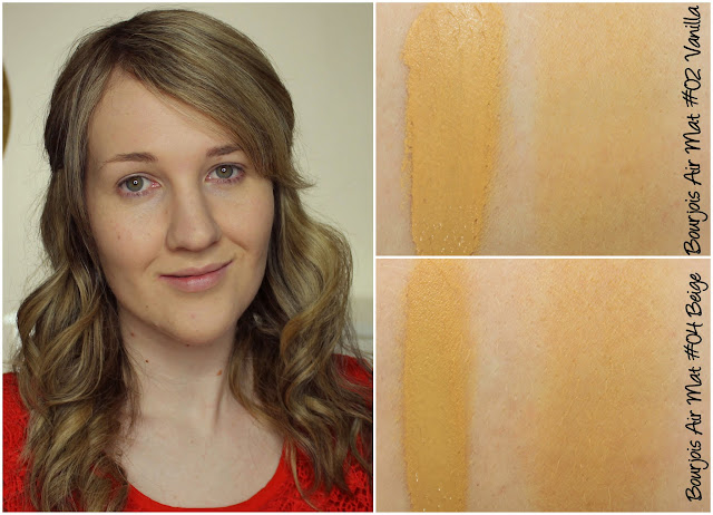 Bourjois Air Mat foundation swatches & review