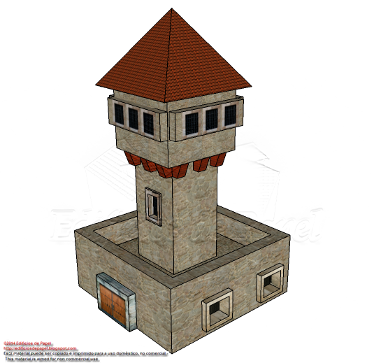 Watchtower paper model for wargamers