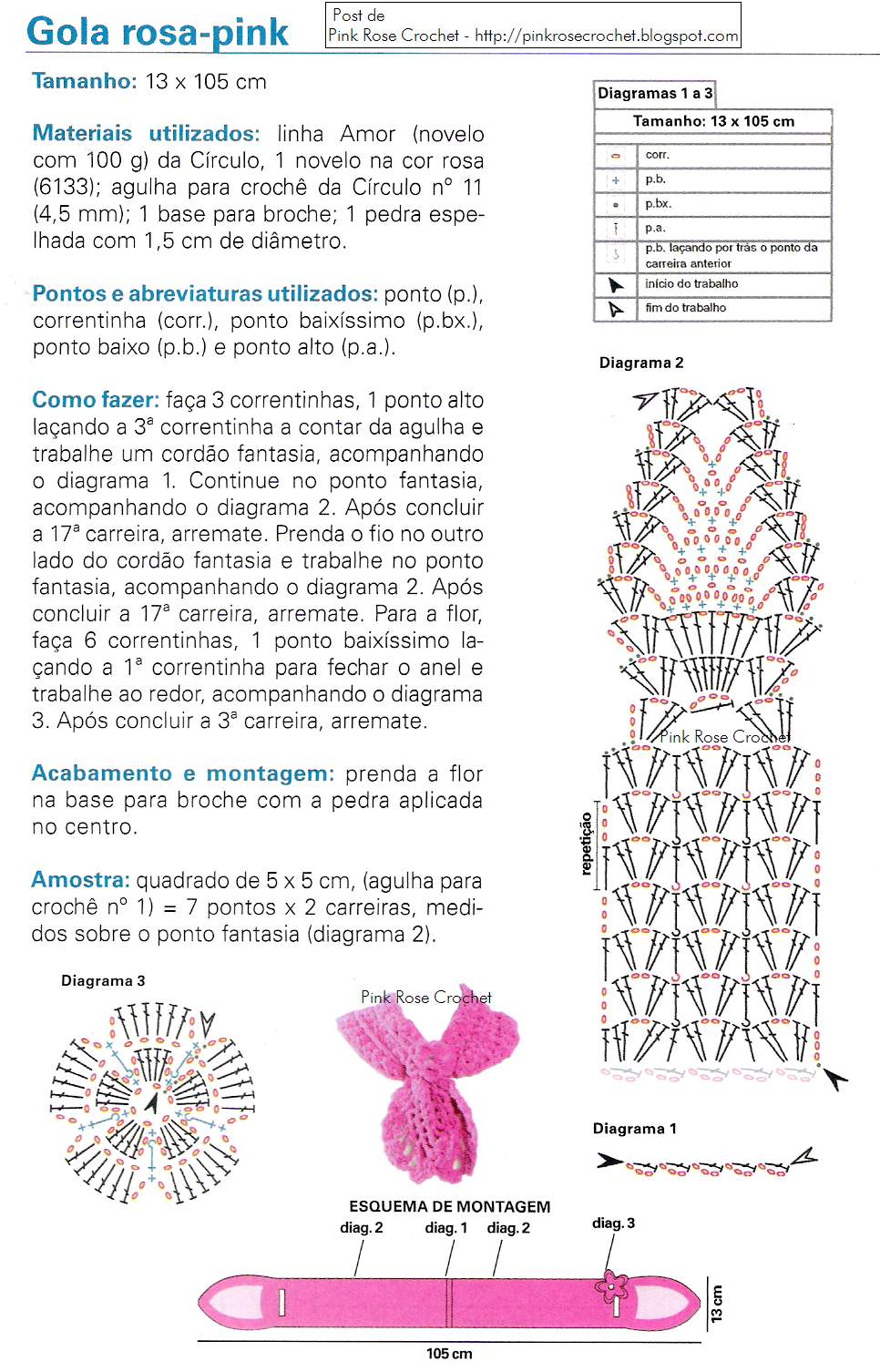 Ажурные шарфы крючком схемы 40