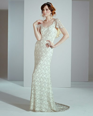 Affordable Embellished Thirties Style Wedding Dress - Phase Eight