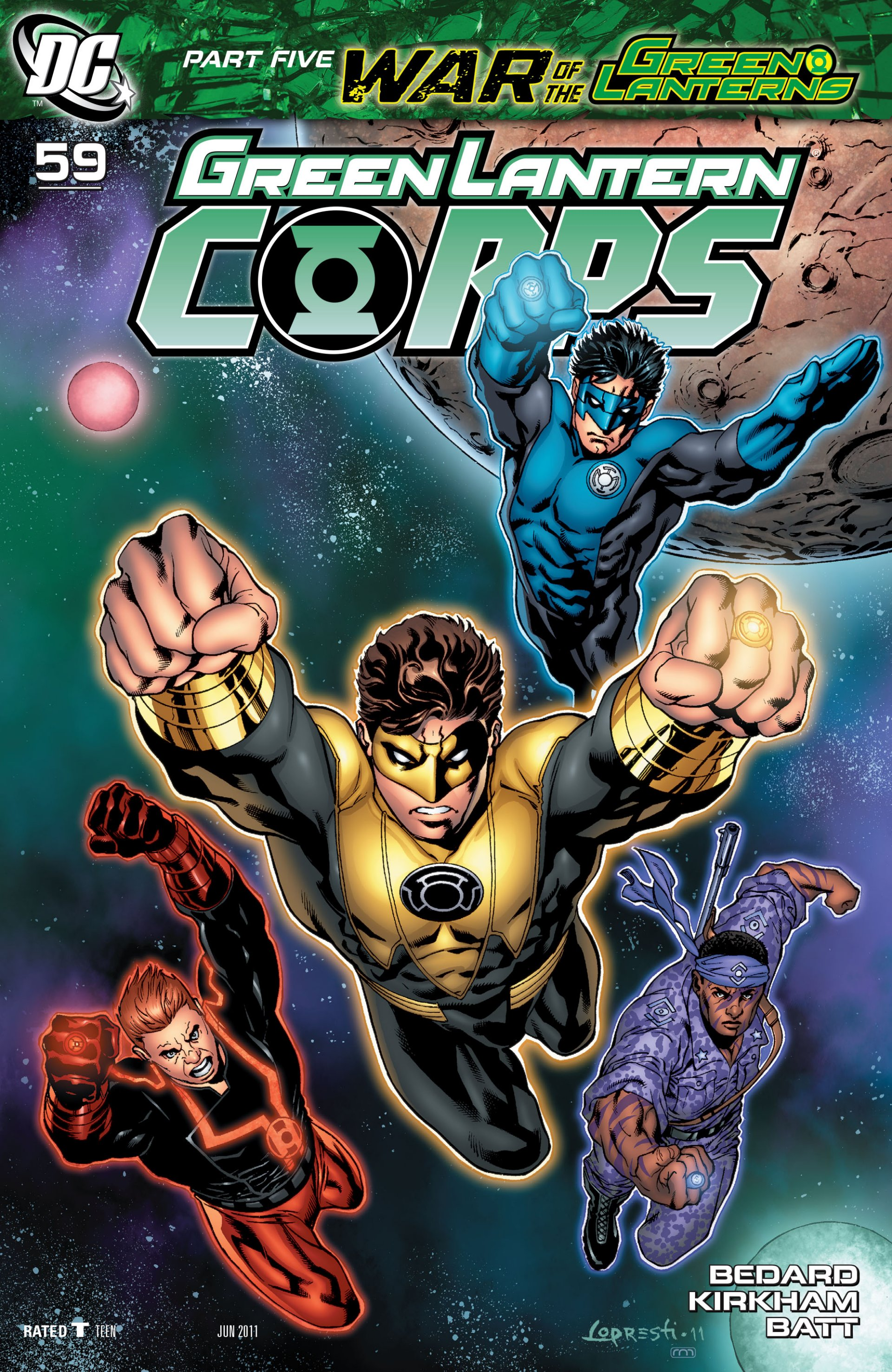 Read online Green Lantern Corps (2006) comic -  Issue #59 - 1