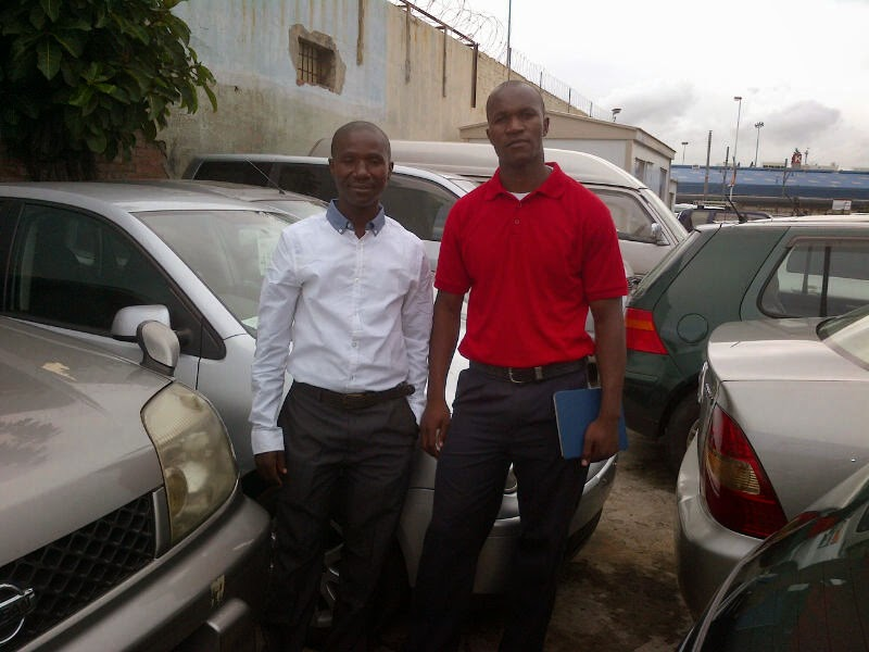 Emmanuel With Mitchel from DRC after he Bought A VW Polo in Durban