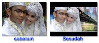 Edit Foto Pernikahan Sebagai Kado Perkawinan, cara mudah mendit foto pernikan, foto-foto Sea games terbaru,