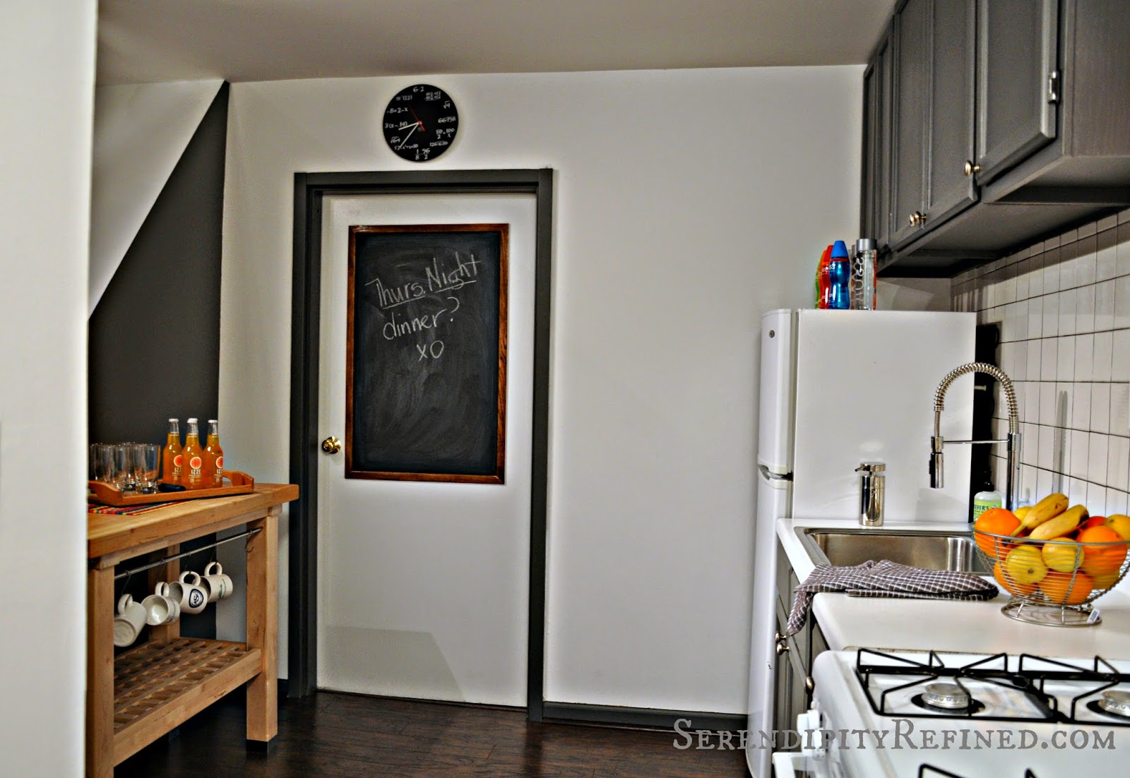 Chalkboard Paint Door Gray And