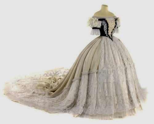 Empress Elisabeth of Austria's gown for her coronation as Queen of Hungary