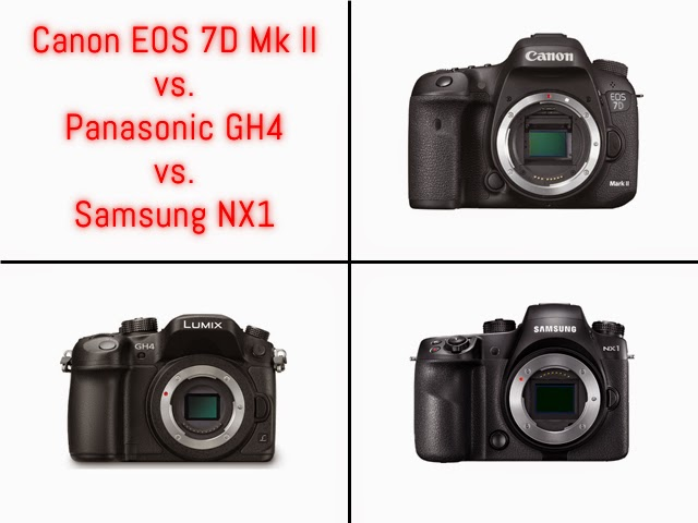 Fotografia della Canon EOS 7D Mk II, Panasonic GH4 e Samsung NX1
