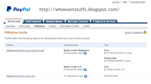 Withdraw Money from PayPal to Bank Account or Credit Card Philippines