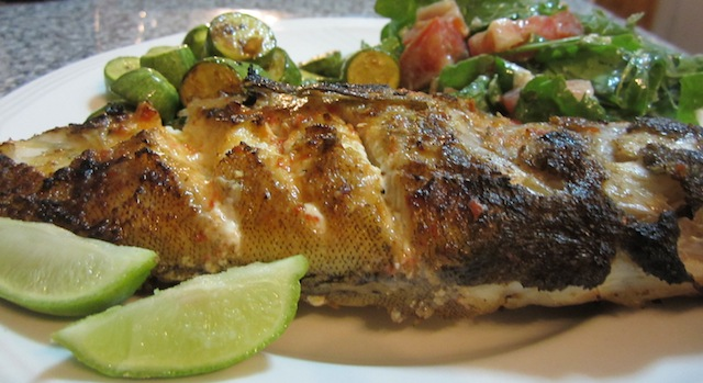 Food lust people love piri piri grilled whole baby grouper for Whole 30 fish recipes