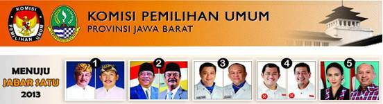 hasil quick count pilkada Jawa Barat 2013
