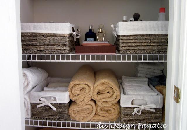 organize, organization, linen closet, linen closet organization, diy