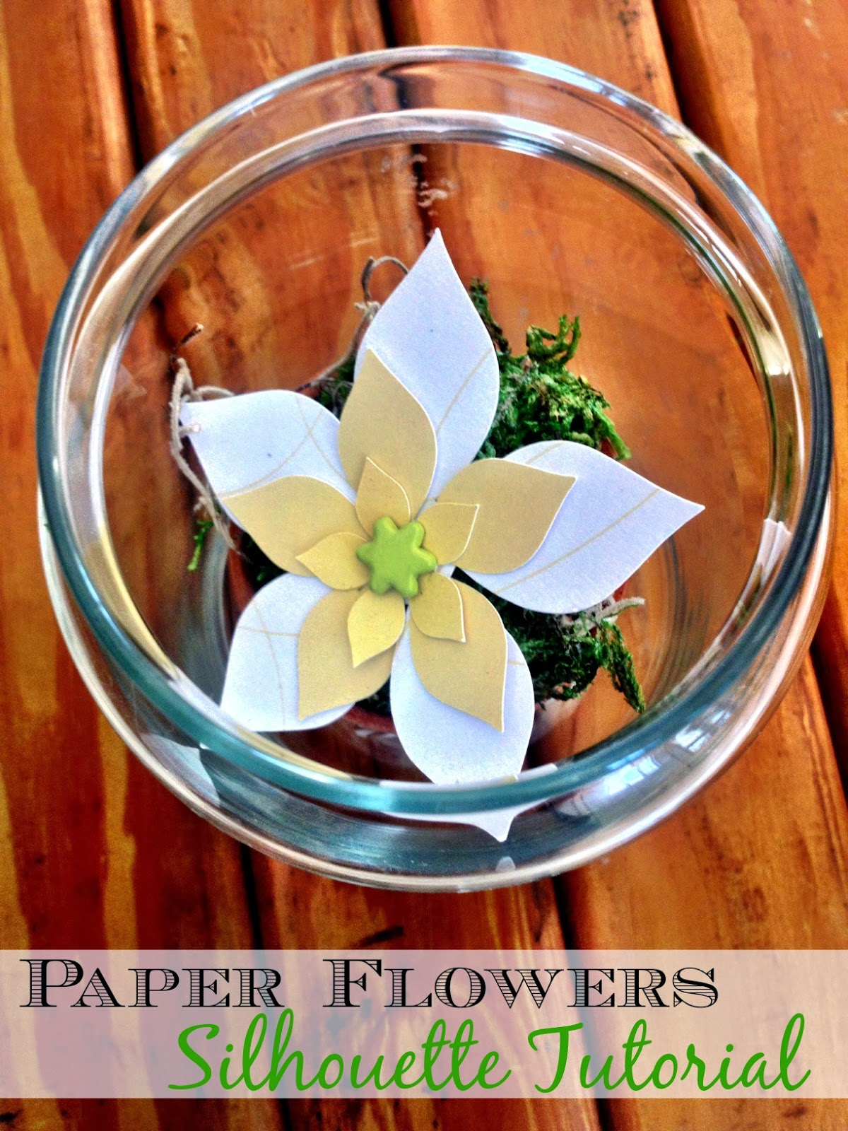 How to Make 3D Paper Flowers the Easy & Free Way (Silhouette ...