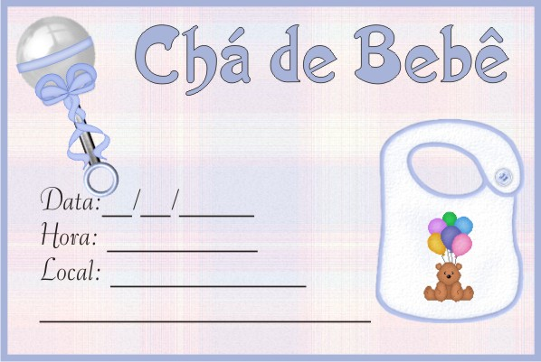 Convites De Chá De Bebê Para Imprimir Repórter Radiola