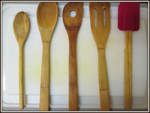 seasoned wooden spoons