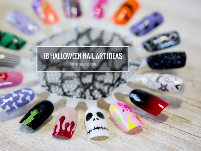 18 Easy Halloween Nail Art Ideas , The Nailasaurus
