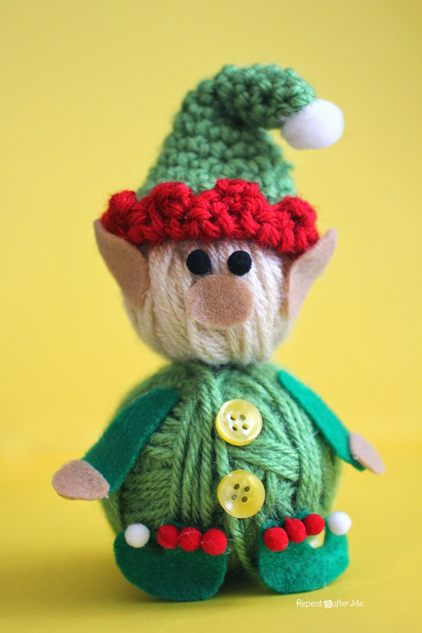 Repeat crafter me yarn ball elf for Elf shelf craft show