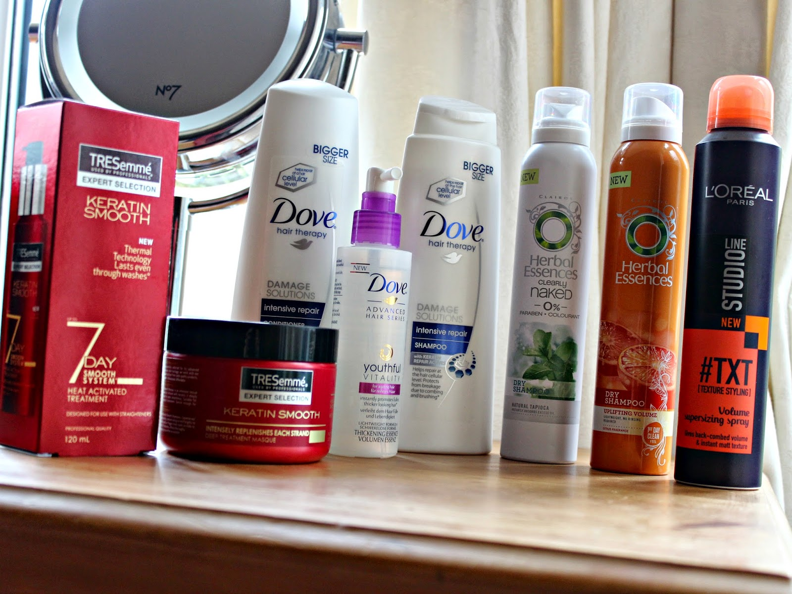 A picture of my haircare haul