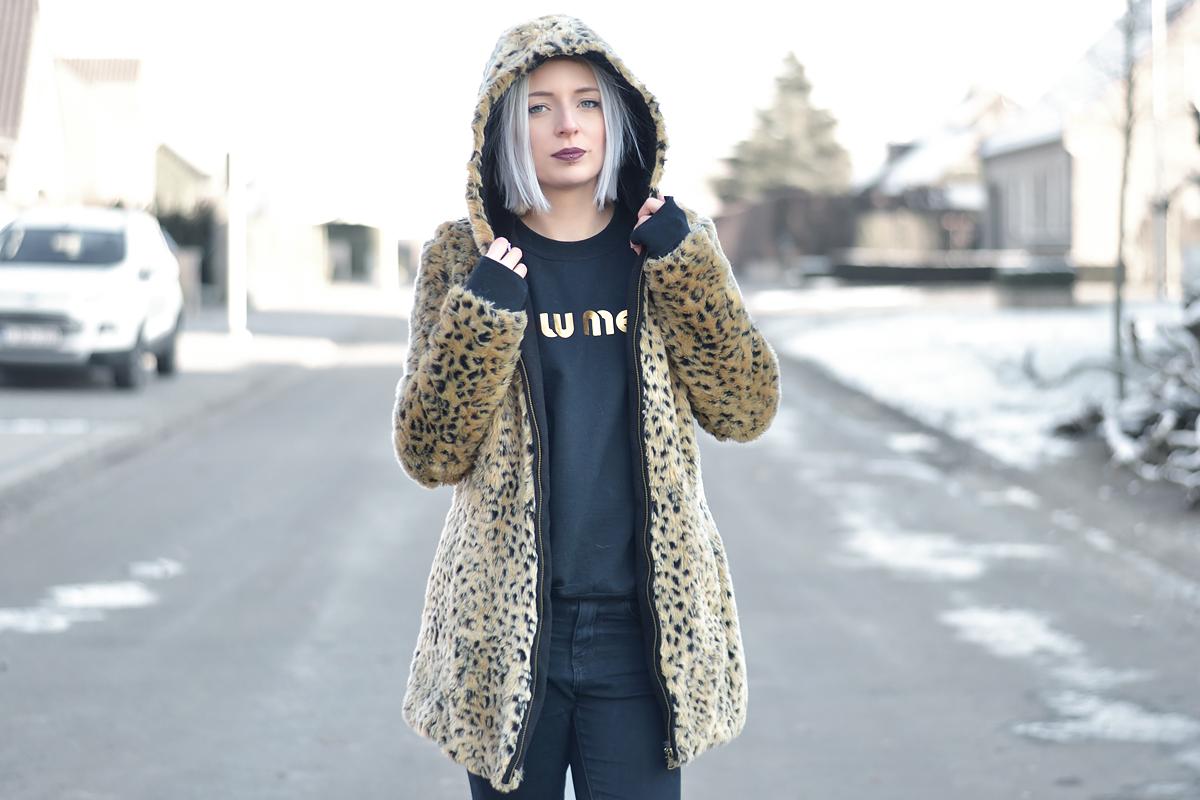 Ootd, faux fur leopard coat, zara, brian lichtenberg, miu miu, all black, patent shoes, sacha, belgian fashion blogger, belgische mode blogger, inspiration, streetstyle