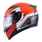 Helm INK Duke Seri 1 Orange Putih Gunmetal