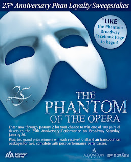 Phantom of the Opera: Win Tickets to the Show's 25th Anniversary Performance and Post-Performance Party