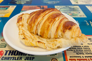 Split and Toasted Croissant