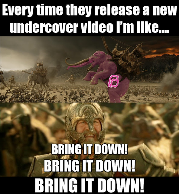 "Every time they release a new undercover video I'm like ""Bring it down! Bring it down! Bring it down!"""