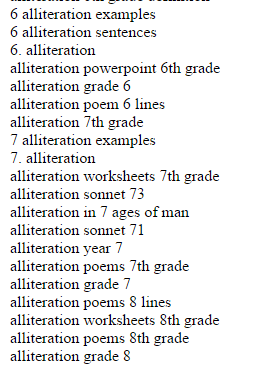 Alliteration Sentences Worksheets for all   Download and Share ...