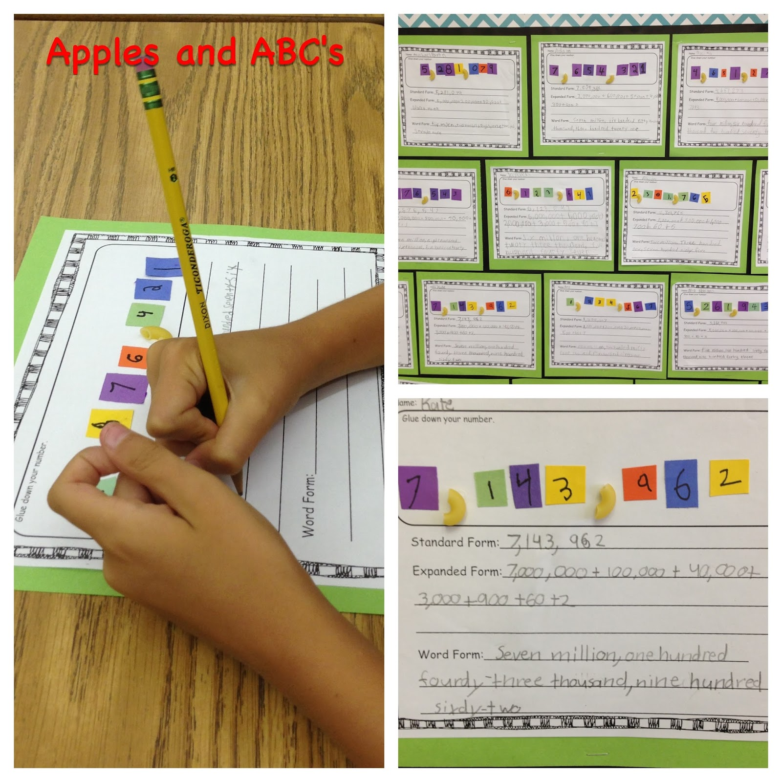 Unit form and standard form image collections standard form examples september 2013 apples and abcs number form craft falaconquin falaconquin