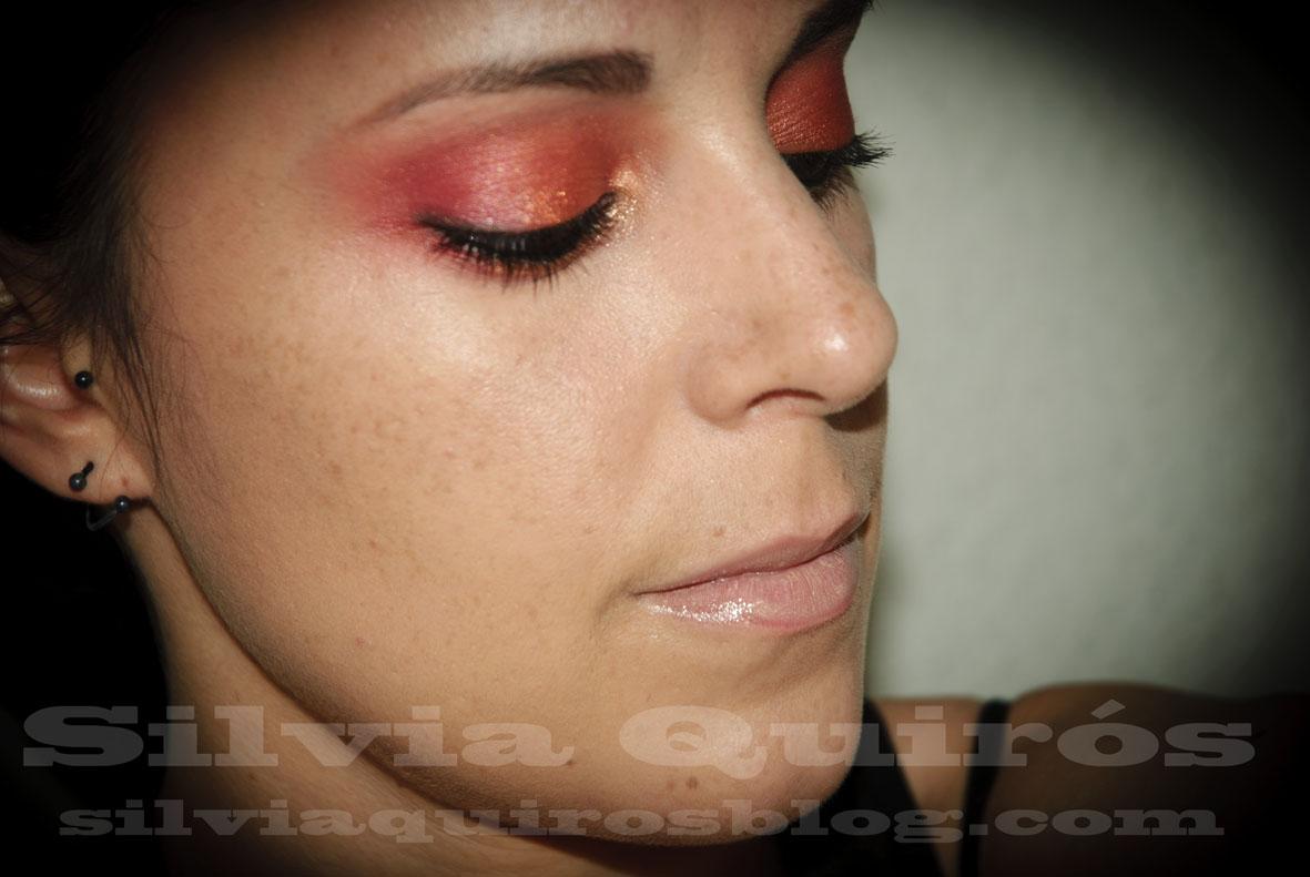 Maquillaje de fuego, ahumado rojo, Fire Make-up look, red ...