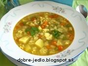 Zeleninová polievka s mrveničkou - recept