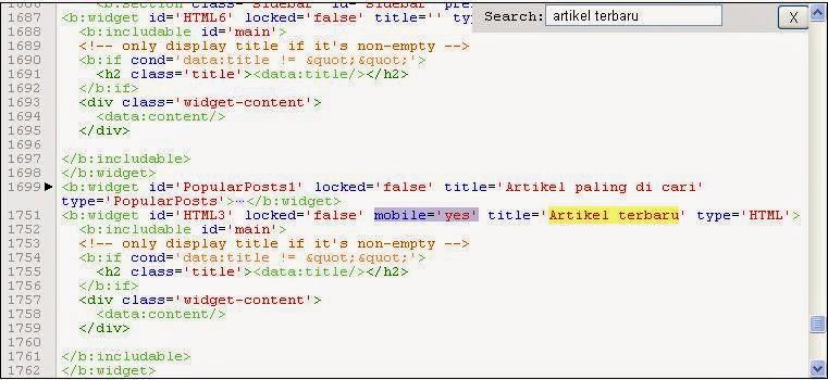 gambar penempatan kode mobile='yes'