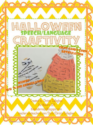 https://www.teacherspayteachers.com/Product/Halloween-Speech-and-Language-Craftivity-2159331
