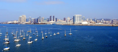 San Diego downtown view from Coronado Island