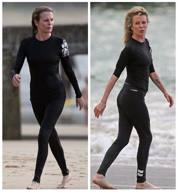 Completed her beach look in a dark shirt and trousers, the 60-year-old was snapped to putting her arms around the mystery man at Hawaii, USA on Thursday, December 11, 2014.