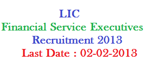 LIC FSE Application Forms 2013