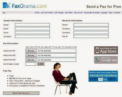 Send Free fax with FaxOrama free Fax Service