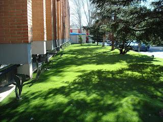 areas verdes de empresas con césped artificial