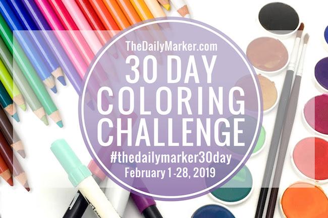 30 dias a colorir - Fevereiro de 2019