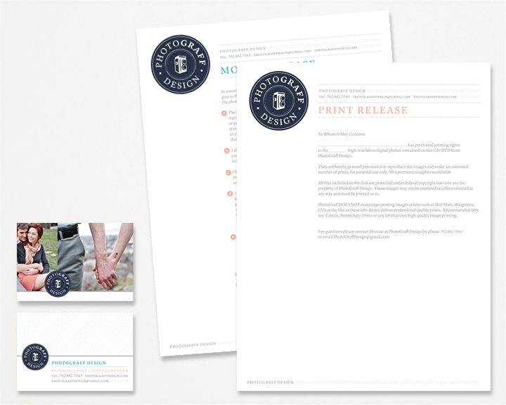 Kimberly Church || Business card & Letterhead Design
