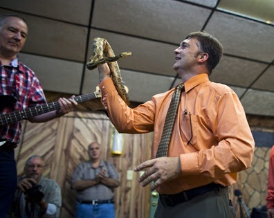 """West Virginia Pentecostal preacher Mark Randall """"Mack"""" Wolford died from a  snake bite he received handling snakes in church. Image from Eternal Life  Blog. 8a24ad41f"""