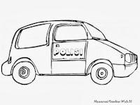 Gambar Mobil Polisi Untuk Diwarnai Anak Anak