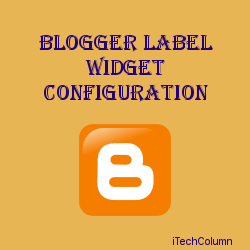 Customize Blogger Label Widget