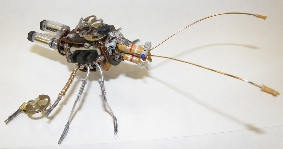 Iu0027m not a sculptor nor am I much for technology. But I do love bugs. And robots are kind of cool. I made this robot bug out of junk. & Robot Bug | St. Lukeu0027s Attic