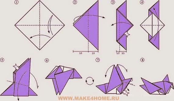 Голубь оригами как сделать