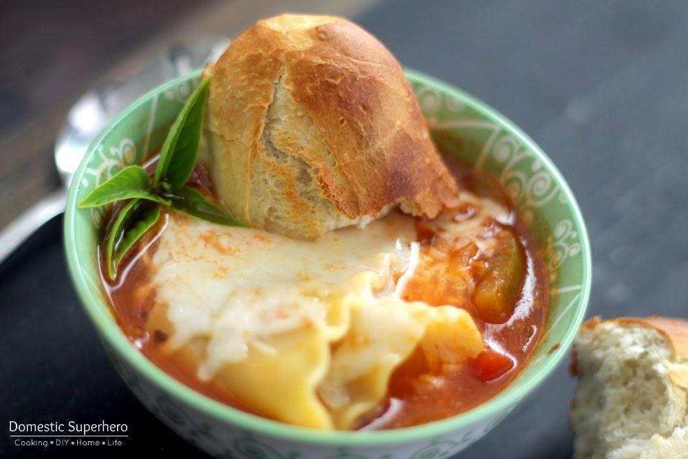 Healthy Skinny Lasagna Soup