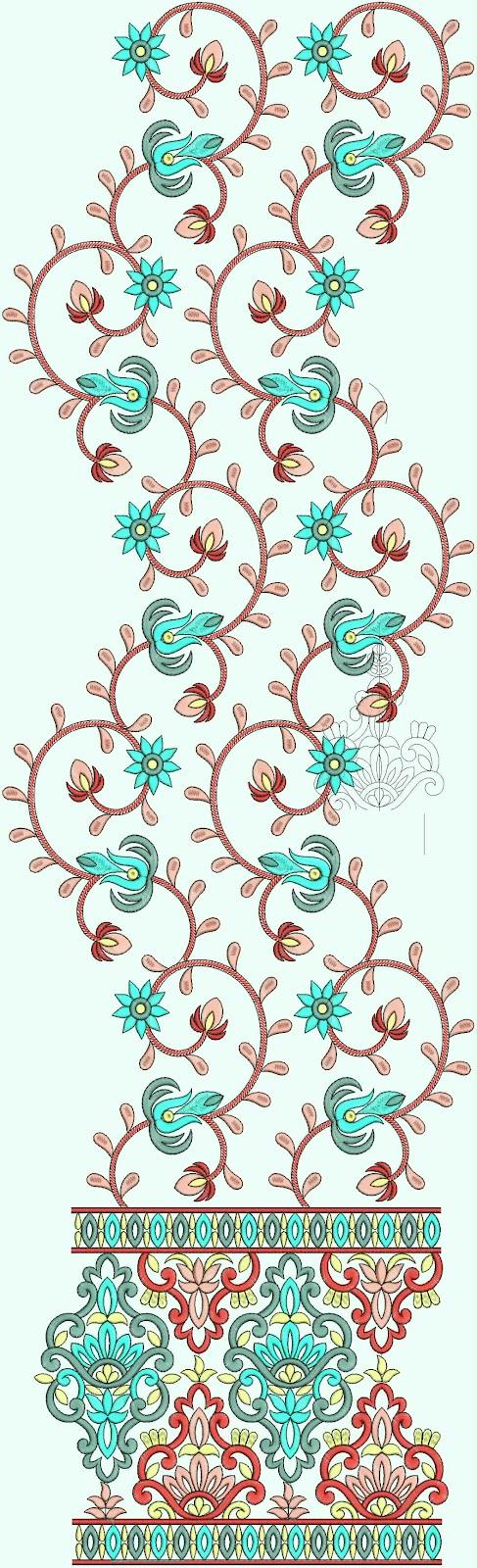 Embdesigntube Bollywood Salwar Kurtis Embroidery Designs