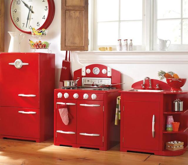 cozinha de brinquedo  - mini geladeira, mini fogão e mini pia