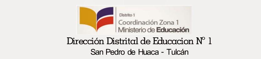 DIRECCION DISTRITAL DE EDUCACION Nº 1 SN PEDRO DE HUACA TULCÁN