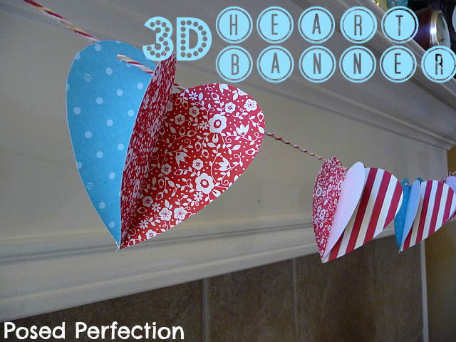 3D Heart Banner {Posed Perfection}