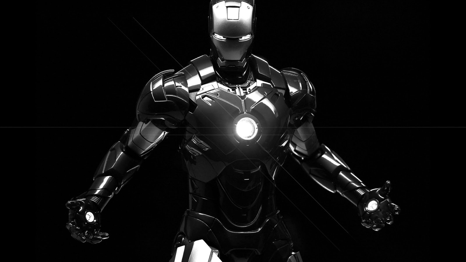 high Defination Iron Man 3 black and white Photo